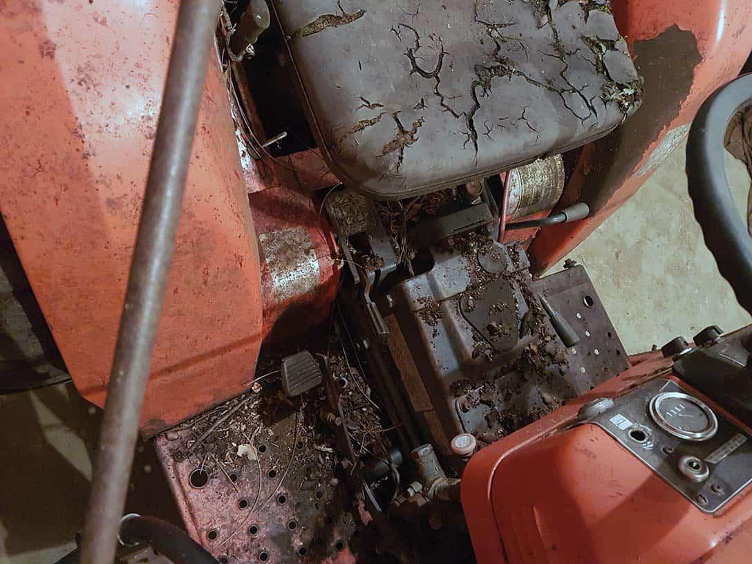 Kubota B20 weathered seat.