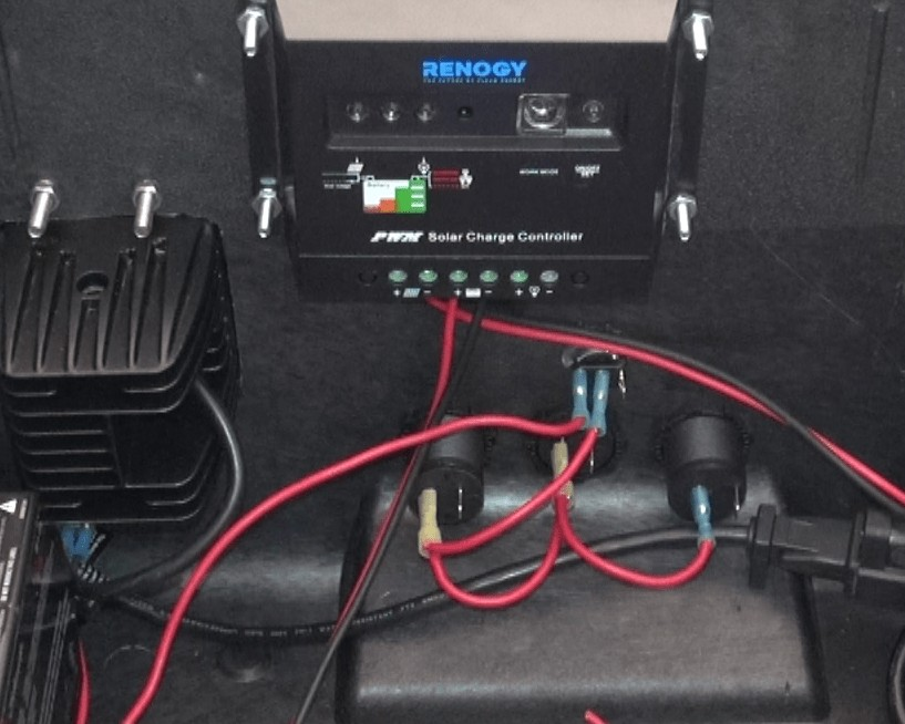 Solar charge controller wiring