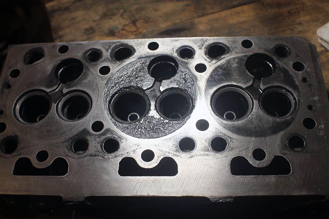Kubota D950 eroded cylinder head
