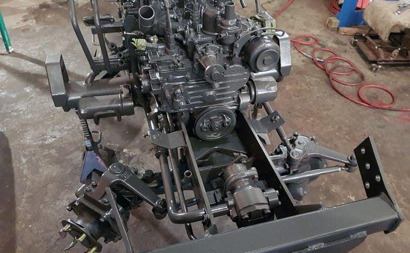 kubota chassis painted 3