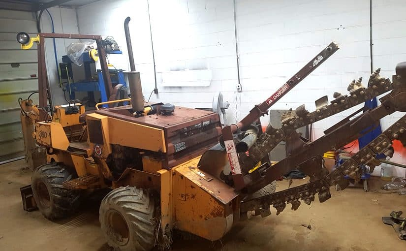 Bringing Home a CASE 360 Trencher Backhoe