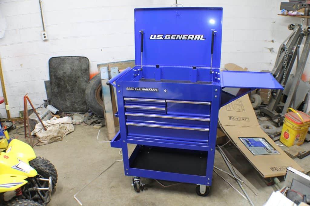 5 Drawer Mechanics Cart Assembeld 1