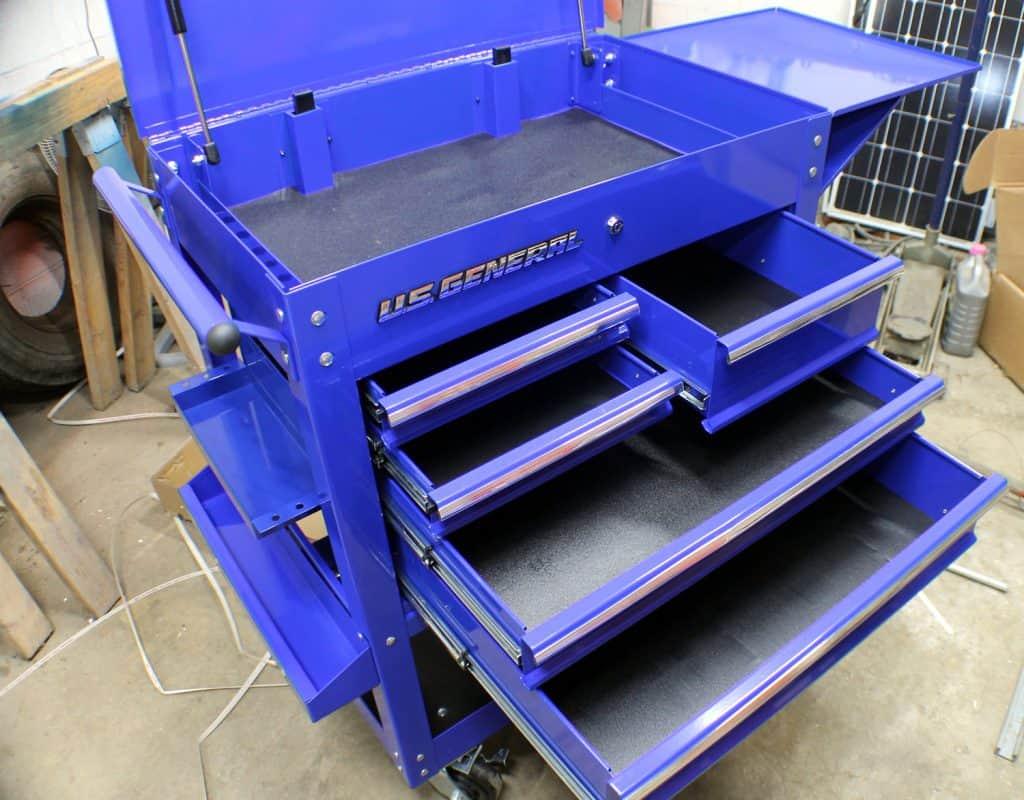 5 Drawer Mechanics Cart Assembled 2