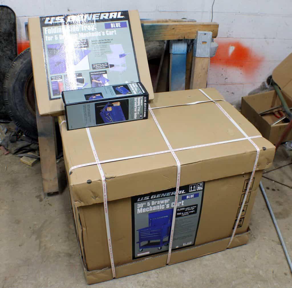 5 Drawer Mechanics Cart Boxed