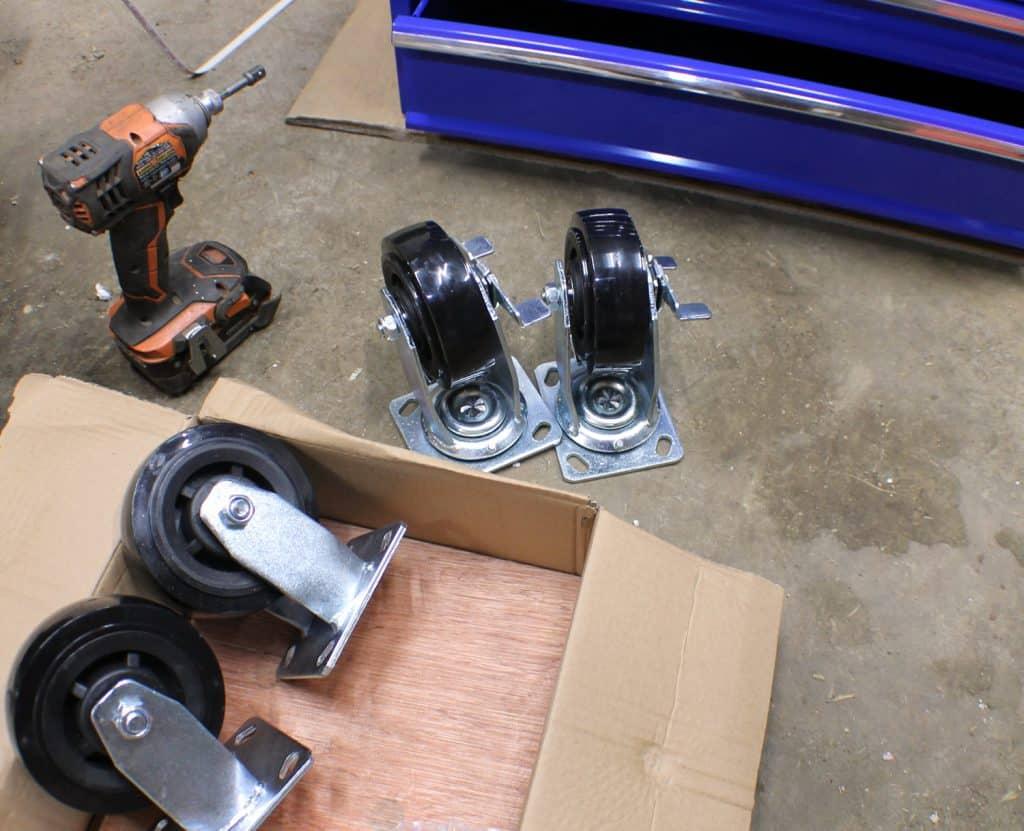 5 Drawer Mechanics Cart Heavy Duty Castors