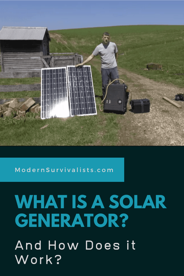 What is a solar generator? And how does it work?
