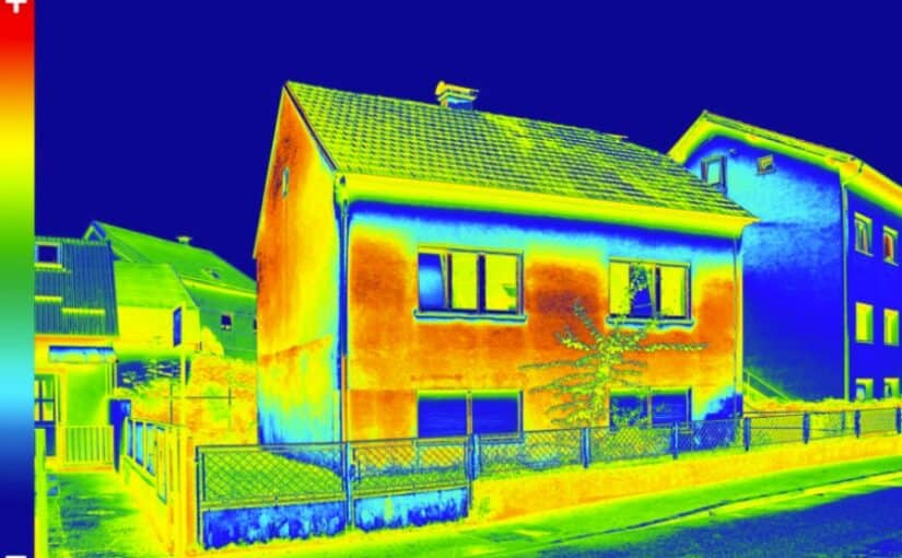 FLIR Image used in Home Energy Audit